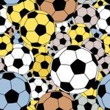 Footballs seamless tile Royalty Free Stock Photo
