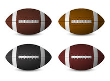 Footballs set Royalty Free Stock Image