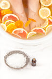 Footbath with essential oils Stock Image