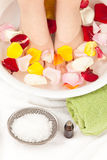 Footbath with essential oils Stock Photo
