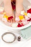Footbath with essential oils Stock Photos