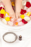 Footbath with essential oils Stock Photography