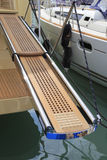 Footboard of yacht Stock Photo