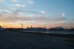 Footbol stadion Ryssland Fotografering för Bildbyråer