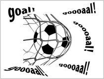 Footboll en netto Royalty-vrije Stock Afbeelding
