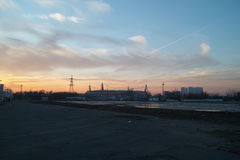 Footbolstadion Rusland Stock Afbeelding