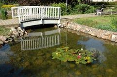 footbridge деревянный Стоковое фото RF