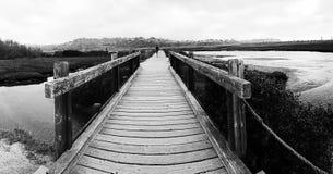 Footbridge лимана Стоковое Фото