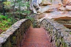 Footbridge камня и кирпича Стоковые Изображения
