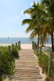 Footbridge к пляжу стоковые фотографии rf