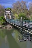 footbridge над рекой saone Стоковое Фото