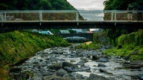 Footbridge над восточным рекой Lyn Стоковое фото RF