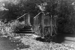 Footbridge над водой Стоковые Изображения RF