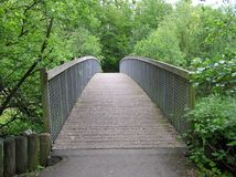 Footbridge. A rural footbridge Royalty Free Stock Image