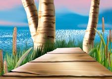 Footbridge stock illustration