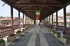footbridge obraz royalty free