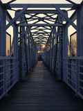 footbridge Obrazy Royalty Free