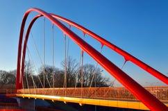 Footbridge across the road Stock Photo