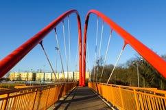 Footbridge across the road Stock Photos