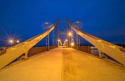 Footbridge in autumn Kiev Stock Photography