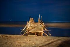 Footbridge on beach Stock Image
