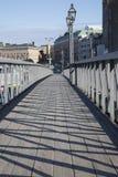 Footbridge Bridge in Stockholm Stock Images