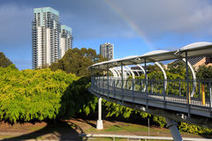 Footbridge on broadbeach Stock Photo