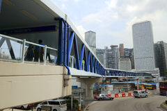 Footbridge in central, hong kong Royalty Free Stock Image