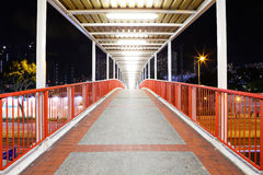 Footbridge in city Royalty Free Stock Photos