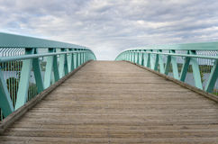 Footbridge on a Cloudy Day Stock Photo