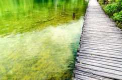 Footbridge, Crystal clear water Royalty Free Stock Image