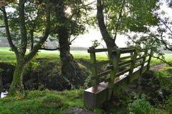 Footbridge at Darley in Yorkshire Stock Photo