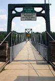Footbridge - Delaware River Royalty Free Stock Photography