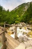 footbridge drewniany Zdjęcie Royalty Free