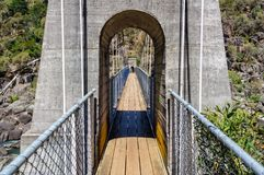 Suspension bridge in Cataract Gorge - Launceston Stock Image