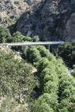 Footbridge in Eaton Canyon Royalty Free Stock Photo