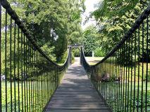 Footbridge in an estate Denmark Royalty Free Stock Photography