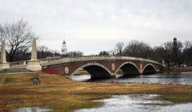footbridge harvard ambiance влажный стоковое изображение rf