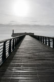 Footbridge of the jetty of la Chaume Stock Image