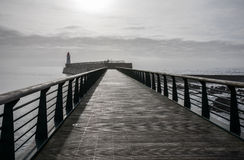 Footbridge of the jetty of la Chaume Royalty Free Stock Image