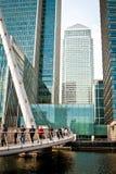 footbridge kanarowy nabrzeże Obrazy Stock