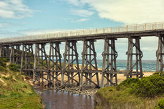 Footbridge at Kilcunda stock image