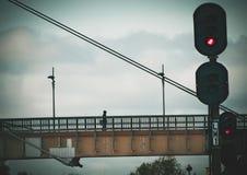 Footbridge in Klaipeda stock photography
