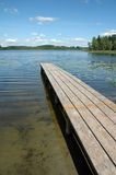 Footbridge on lake Stock Photos