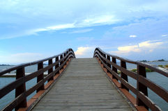 Footbridge Lefkada,Greece Royalty Free Stock Images