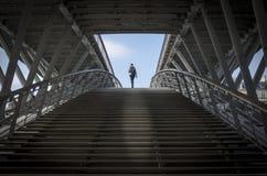 Footbridge Leopold-Sedar-Senghor, Paryż, Francja Zdjęcie Royalty Free