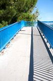 Footbridge in madrid Stock Photos
