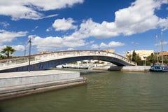 Footbridge in the Marina of Gruissan Stock Photography
