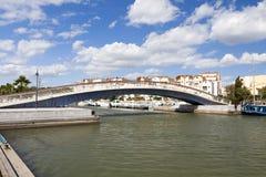 Footbridge in the Marina of Gruissan Stock Image