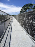 Footbridge: Merrimack River. Temporary footbridge over the Merrimack River in Tyngsborough, Massachusetts Stock Photography